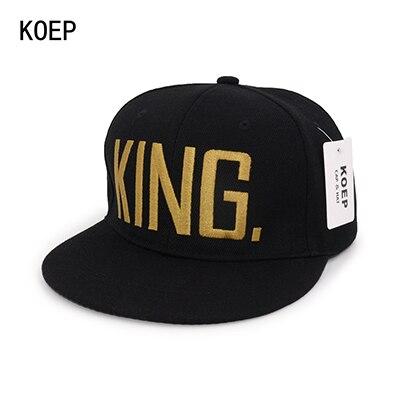 KING Black snapback hat 5c64fe6f2ac64