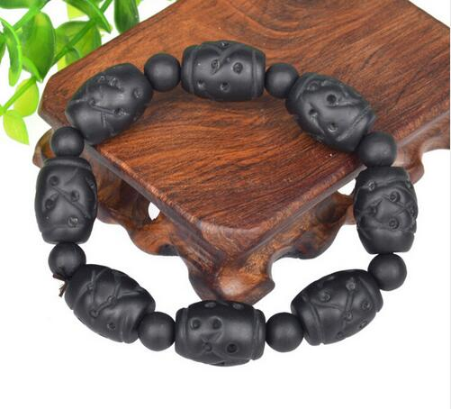 Drop Shipping Sibin stone Bian Stone Jadee Bianchi Black Stone Bracelets Wholesale Carve BalckJade For Men and Women