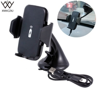 XMXCZKJ Car Holder Fast Wireless Car Charger Suction Cup Mount 2 In 1 Wireless Charger Mobile
