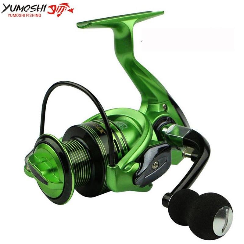 Ymoshi supérieur aluminium carpe pêche filature pêche bobine 13 + 1BB 3 couleur vert or rouge 1000-7000