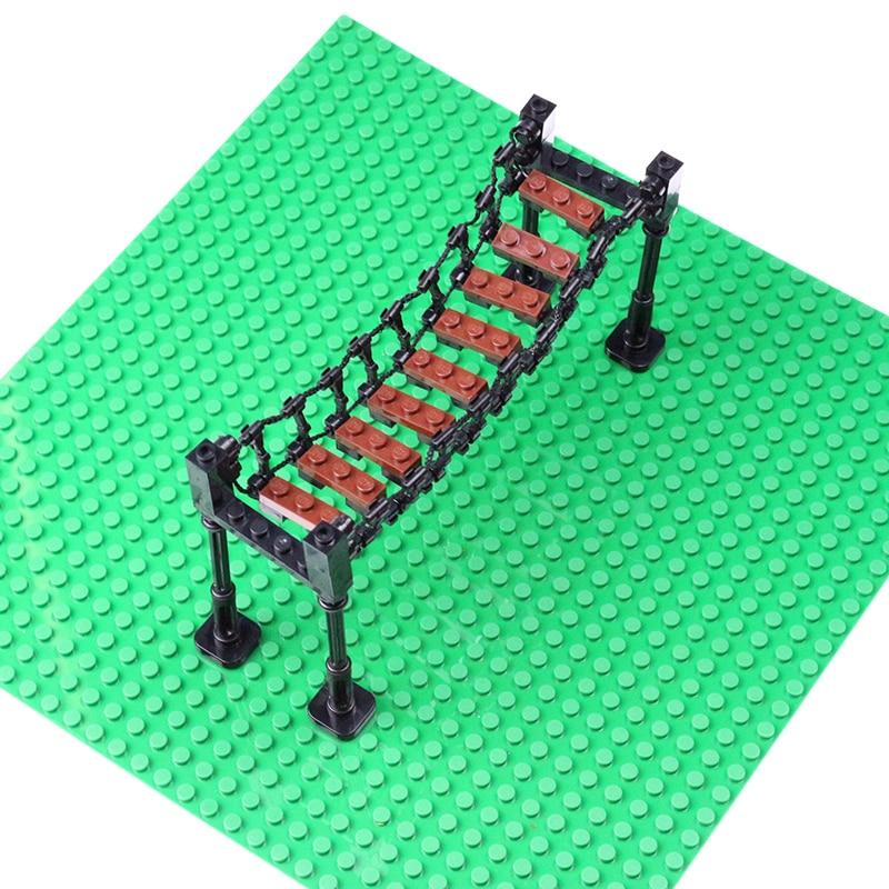 MOC Bricks Suspension Bridge Drawbridge Model font b Action b font font b Figure b font
