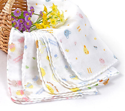 10pc/lot Baby Towel 100% Cotton Gauze Muslin Baby Wipes Baby Muslin Squares Toalla Bebe Absorbing Towels Soft Washcloth