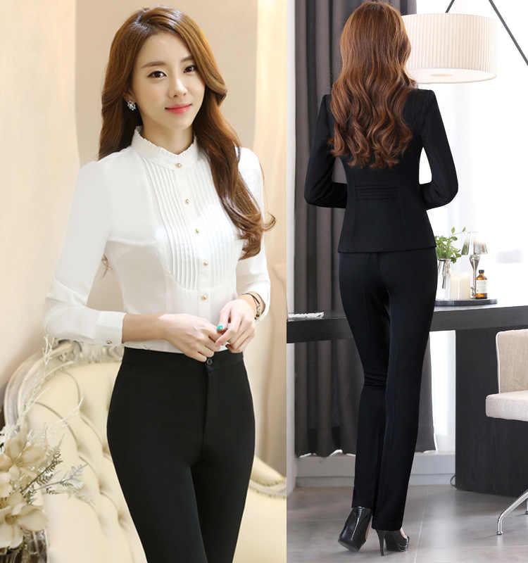 7567cb829a ... 2018 Winter formal elegant Women s Blazers Work Suits ladies Skirt  Jackets suit set office lady uniforms ...