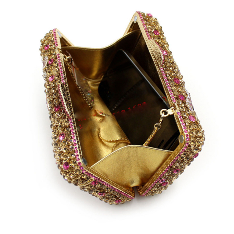 Diamant Glitter Messenger Sacs Cristal Sac De Bolsa Embrayage Feminina Bourse D'or Xiyuan Luxe Oiseaux Marque Mode Or Soirée Strass 1HfqIf