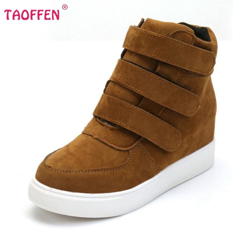 Kadın Çizmeler Platformu 3 Tokaları Sıcak Kürk Kış Çizmeler Yüksek Topuklu Rahat Ayak Bileği Çizmeler Moda Kadın Ayakkabı Botas Boyutu 35-40