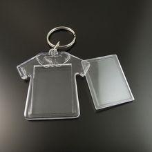 8 шт./лот GraceAngie Прозрачный Бланк Пластиковые Вставки Фоторамка Брелок Брелок Ручной Работы Кольца Для Ключей Пальто Форма 35661