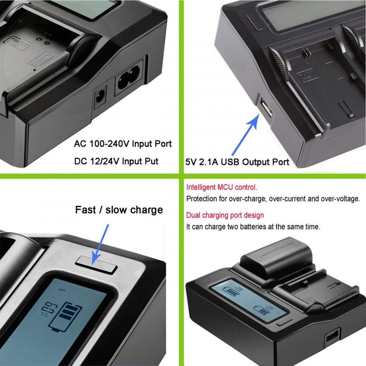 AG-DVC15P Mini DV Camcorder Battery Charger for Panasonic AG-DV1DC P AG-DVC7P