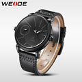 WEIDE Men's Casual Watches Mens Top Brand Luxury Waterproof Leather Strap Clock Men Quartz Business Wrist Watches Reloj Hombre