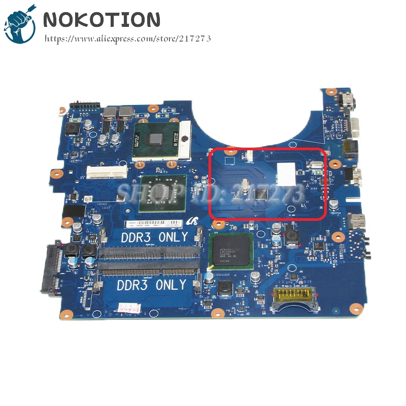 NOKOTION For Samsung NP-R530 R530 Laptop motherboard DDR3 GL40 Free CPU BA92-06336A BA92-06336B nokotion for samsung r530 laptop motherboard ba92 06346a ba92 06346b ba41 01227a pm45 gt310m ddr3