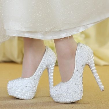Compare Prices on White Pearl Heels- Online Shopping/Buy Low Price ...