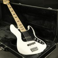 4 Strings Jazz Electric Bass Guitar White Color Maple Fingboard Free Shipping Cost