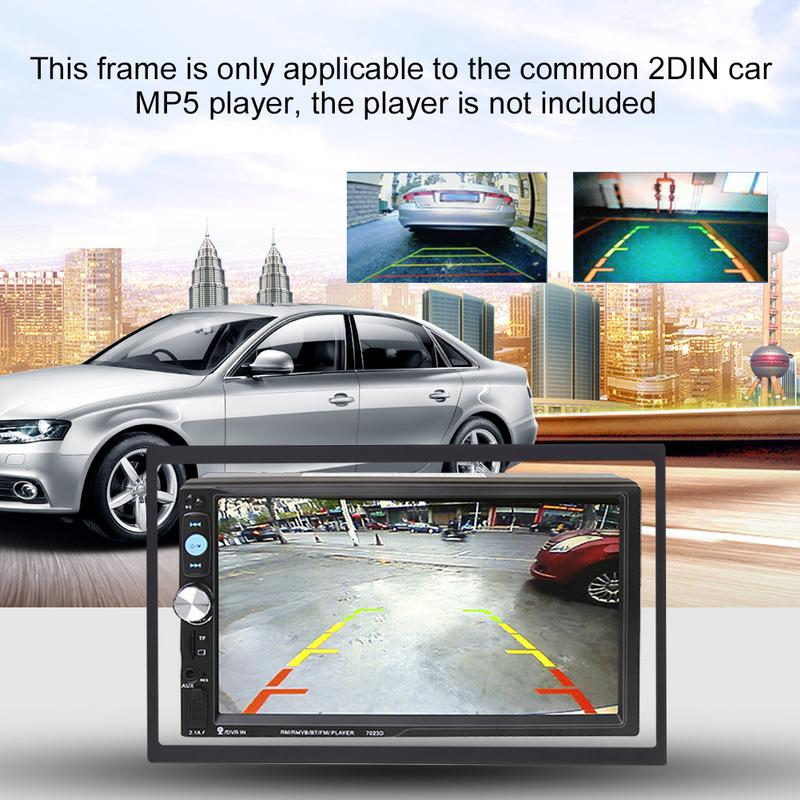 Car Radio Frame Installation Fitting Frame Kit Mounting Fascias Cage for Universal 2 Din Car Radio MP5 Installation Accessories in Fascias from Automobiles Motorcycles