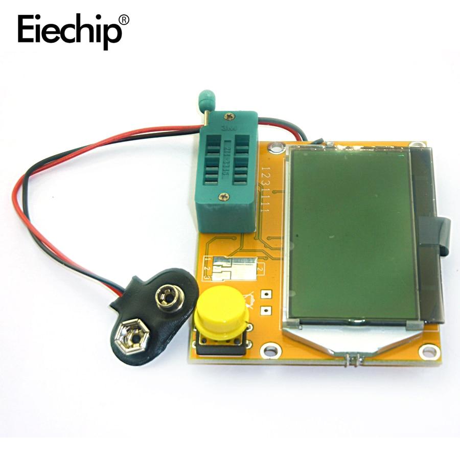 Latest LCR-T4 ESR Meter Transistor Tester Diode Triode Capacitance Mos Mega328 Transistor Tester (not Battery )