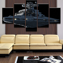 5 Pieces/Set Star Wars Imperial Battleship Star Destroyer Wall Decor Canvas Picture Art