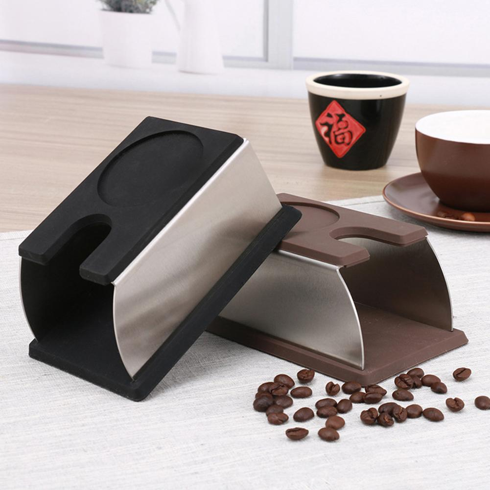 Silicone Espresso Coffee Tamper Mat Stand Holder Base Rack Barista Machine Tool