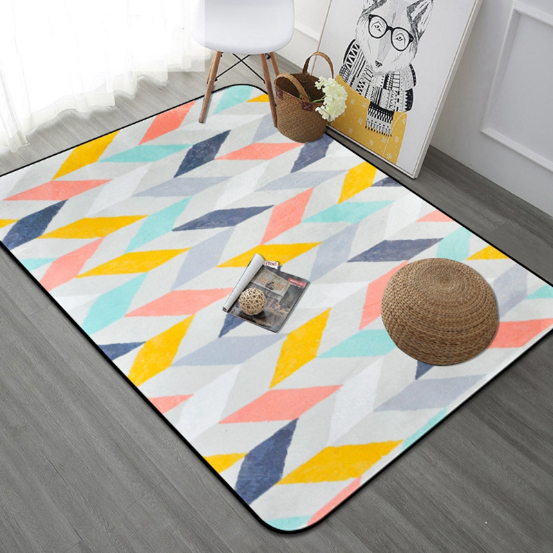 Nordic Modern Style Thick Striped Carpets For Living Room Rectangle Geometric Area Rug Safety Kids Carpet Home Decor Mat TapetesNordic Modern Style Thick Striped Carpets For Living Room Rectangle Geometric Area Rug Safety Kids Carpet Home Decor Mat Tapetes