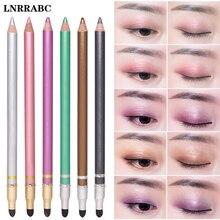 Sale 1PC 2018 Lasting Long Waterproof Eyeshadow Double Head Eyeliner With Brush Not Blooming Cosmetics