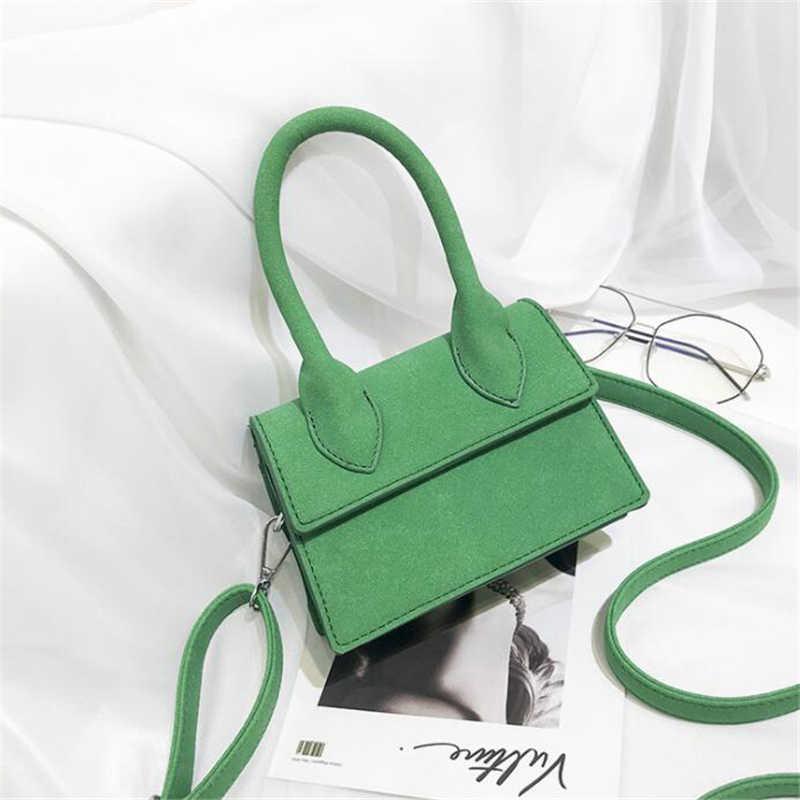 c13e3d04c65e ... 21club brand 2018 ladies mini scrub flap thread totes fashion cute  party shopping purse women handbag ...