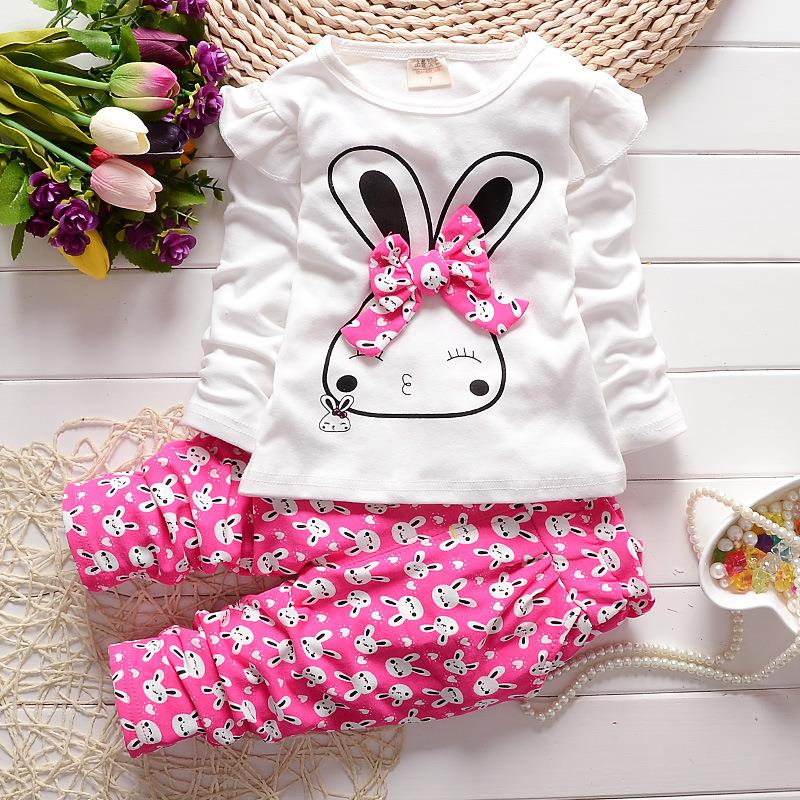 53ae98bb0313 Fashion Baby Girl Clothing Set Children Cute Suit 2PCS Kids Twinset ...