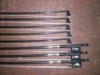 8 PCs Nice Quality Violin Bow 4/4 with Grib inlay White Bow hair Ebony Frog 008#