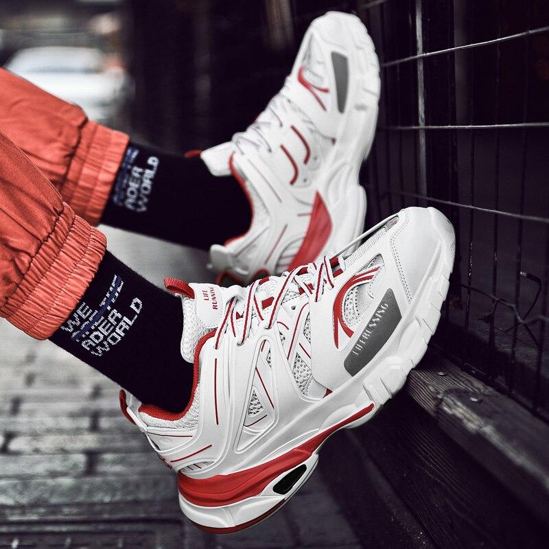 ADBOOV Модные женские кроссовки на толстой подошве женская обувь на платформе знаменитости толстый папа кроссовки chaussures femme Buty Damskie