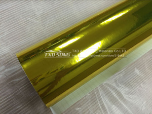 Image 4 - Premium High stretchable Waterproof UV Protected gold Chrome Mirror Vinyl Wrap Sheet Roll Film Car Sticker Decal Sheet