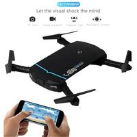 Mini Pocket Selfie Drone with Camera HD Foldable Rc Quad copter Helicopter Drone With Wifi FPV Camera VS H37 H31 JXD 523