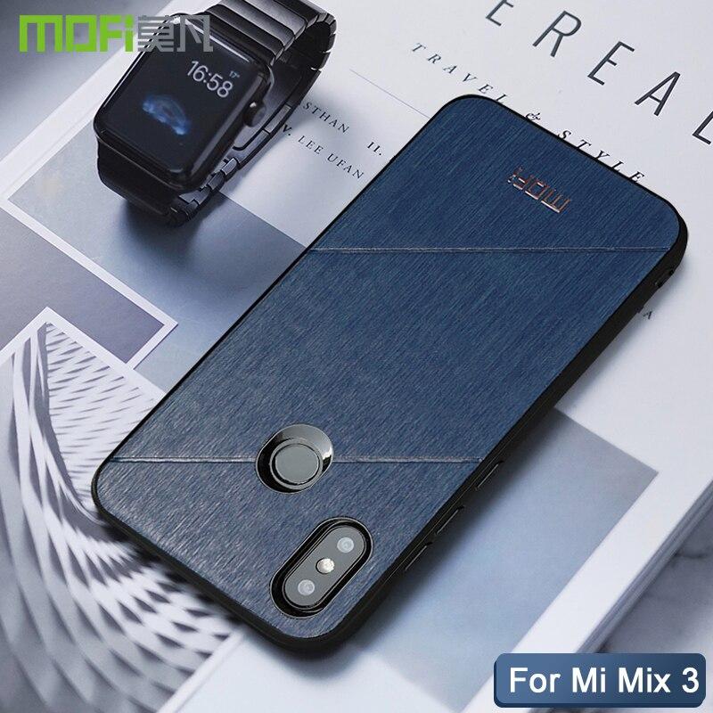 xiaomi mi mix 3 case cover Mofi original hard back soft edge xiaomi mi mix3 cover pu leather conque fundas xiaomi mi mix 3 case