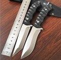 Hot recta cuchillo táctico 5Cr13 hoja fija cuchillo de caza de la supervivencia que acampa cuchillo antideslizante G10 asa plegable herramienta de envoltura de nylon