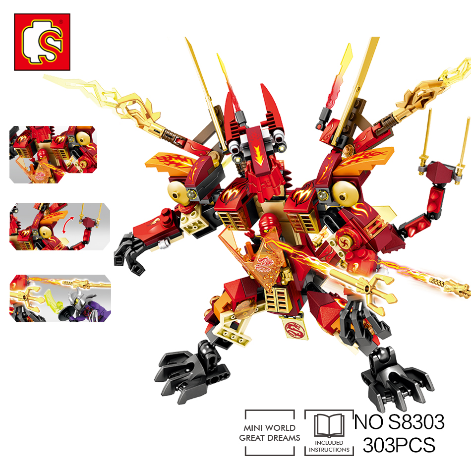 Sembo Dragon knight building blocks Toys Compatible legos mini action enlighten ninjago building bricks toy for childrens gift цена и фото