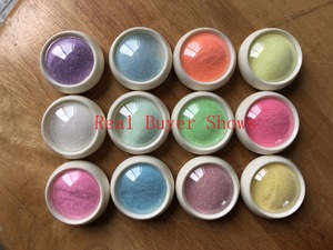 Image 5 - 12Box/set Mermaid Nail Glitter Powder Woolen Sugar Starlight Effect Chrome Nail Polish Design Glitter DIY Nail Pigment Powder