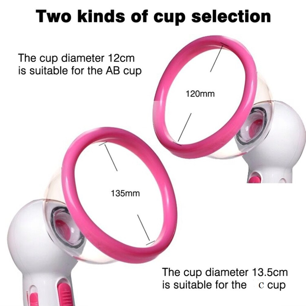 Portable Beauty Breast Electric Vacuum Cup Body Slimming Massager Liposuction Breast Enlarger Nipple Vibrating Vacuum Pump Cup