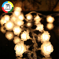 Coversage 10M 100 Led String Garland Christmas Tree Rose Flower Fairy Light Luce Home Garden Party