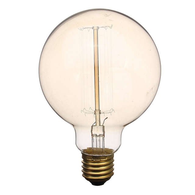 Placeholder Vintage Edison Light Bulb G95 E27 Spiral 60W Incandescent Retro Tungsten Filament Pendant Lamp