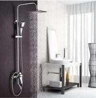 Big Promotion 8 Inch 3 Function Chrome Finish Brass Made Shower Faucet Shower Set Rain Shower
