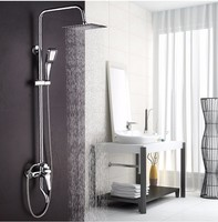 Big Promotion 8 Inch 3 Function Chrome Finish Brass Made Shower Faucet Shower Set Rain Shower