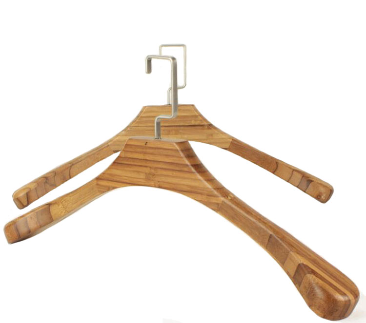 deluxe extra big long bamboo wood coat garment suit hanger with for big tall man