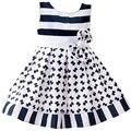 Новые прибытия платье для Ребенка девушка Печати платья для девочек Свадебное платье L1823XZ