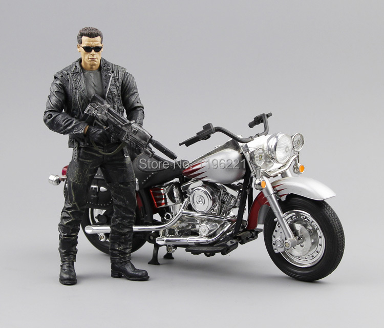 (NO box)Free Shipping NECA The Terminator 2 Action Figure T800 Cyberdyne Showdown PVC Figure Toy 718cm MVFG132 neca the terminator 2 action figure t 800 endoskeleton classic figure toy 718cm 7styles