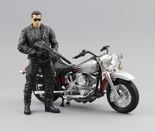 (NO box)Free Shipping NECA The Terminator 2 Action Figure T800 Cyberdyne Showdown PVC Figure Toy 7