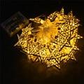 10 20 30 LED Da Bateria Operado Luzes De Fadas Branco Quente Estrela do Metal Corda Decoração Lâmpada para Festival Halloween Natal cordas