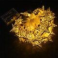 10 20 30 LED de Batería Operado Blanco Cálido Luces de colores Estrella de Metal Cadena Lámpara de La Decoración para el Festival de Halloween Navidad cadena