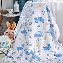 Cobertor do bebê Recém-nascido 100% Algodão Dos Desenhos Animados Toalha de Banho Do Bebê Cobertores Ar Condicionado Cobertor Multi-Função 95 Fundamento Do Bebê * 105 cm
