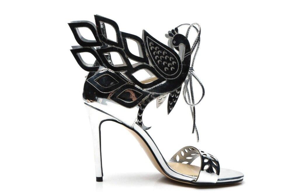 3497c53189 Nó Peep Mulheres Toe Saltos 2018 Pic Femininos Gladiador As Borboleta Out  Sensuais Feminina Hallow Mujer Altos Sapatos ...