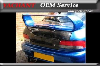 Rabat de coffre en Fiber de carbone Style voiture hayon adapté pour 1993-2001 Impreza WRX STI GC8 couvercle de coffre arrière de Style OEM