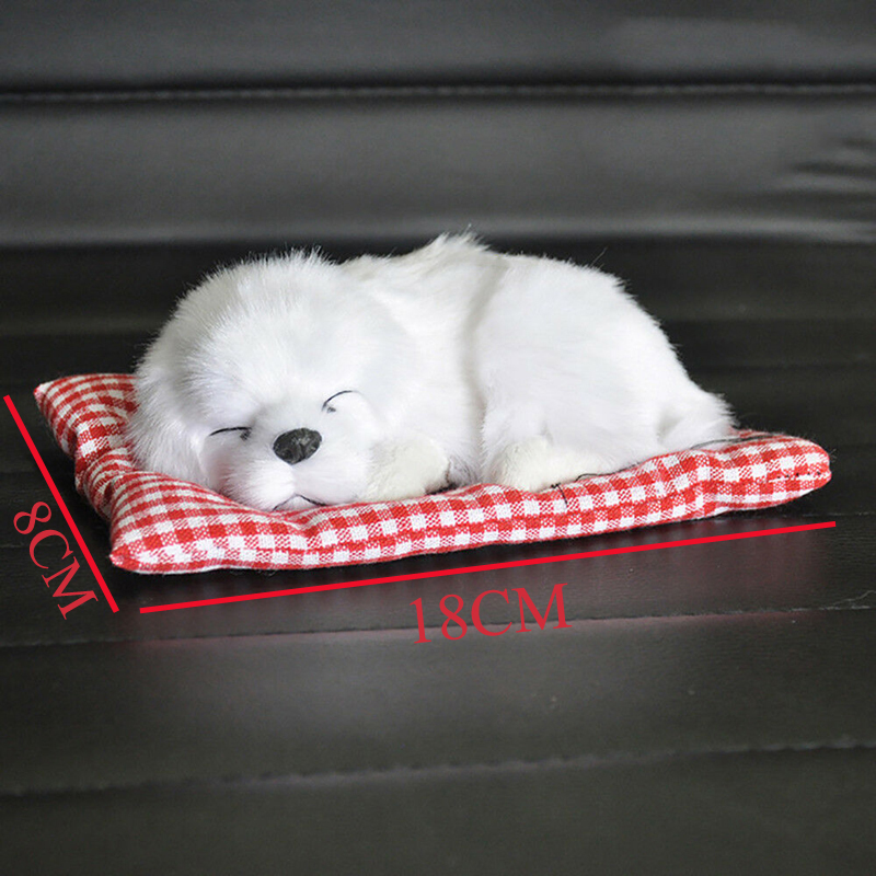 Image 4 - Car Ornament ABS Plush Dogs Decoration Simulation Sleeping Dog Toy Automotive Dashboard Decor Ornaments Cute Auto Accessories-in Ornaments from Automobiles & Motorcycles