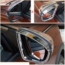 Para Peugeot 3008 GT 5008 2nd 2017 2018 Capas de Espelho Retrovisor Do Carro Chuva Sobrancelha Quadro Acessórios De Proteção Estilo Do Carro À Prova de Chuva