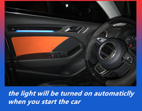 Двери межкомнатные светодио дный Декор атмосферу окружающий свет светодио дный Пластик для Audi A3 8 В 2012 2013 2014 2015 2016 2017 2018