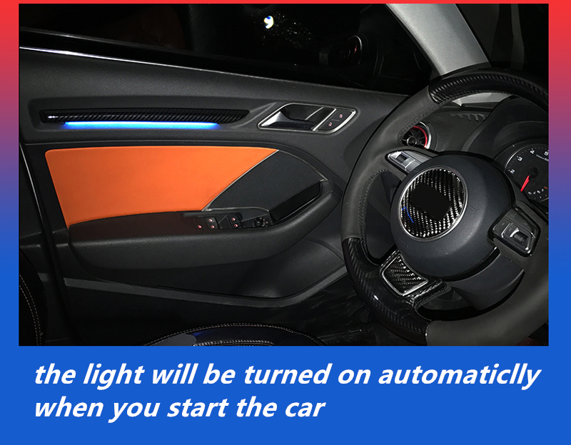 Interior Door LED Decor Atmosphere Ambient Light LED Plastic For Audi A3 8V 2012 2013 2014 2015 2016 2017 2018 12pc x canbus led interior dome map light kit package for audi a3 s3 8p 2006 2013