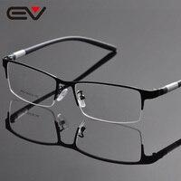 Glasses Frame Half Rim Opticos Eyeglasses Frames Men Buffalo Horn Glasses Oculos De Grau Masculino DD1054
